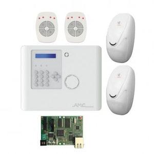 AMC Online Wireless Alarm Kit 1 x Panel, 1 x IP Module, 2 x Detector's and 2 x Remote fobs. (AMXR900KITIP)