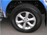 Nissan Navara  refitted with tyres to suit the task