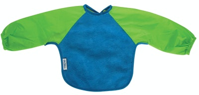 Silly Billyz Small Long Sleeve Royal Blue/Lime Fleece Bib