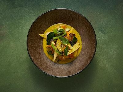 Green Curry, Japanese Pumpkin, Green Jackfruit, Thai Basil