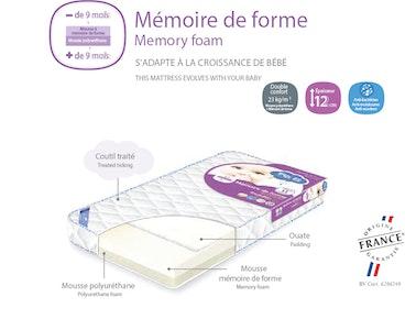 Memory foam cot mattress
