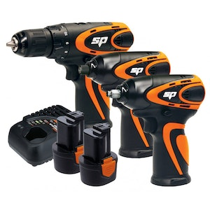 Cordless Combo Kit 12v 3 Piece Impact Wrench Drill Driver SP82148