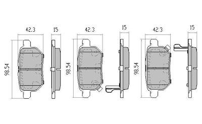 GP MAX REAR BRAKE PADS for Toyota Corolla ZRE152 5/2007-1/2014