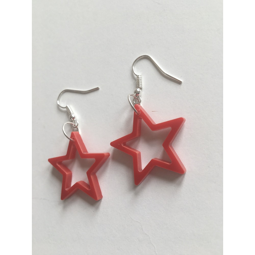 One of a Kind Club Red Star Acrylic Earrings
