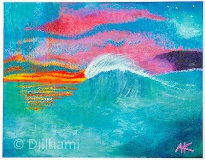 Diilhami Art Twilight Dreaming Art Print 385 x 300mm