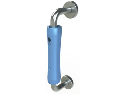 "Purehold ""Antibacterial"" clip on D-Pull handle cover, minimum handle required size is 200mm in Ice Blue (Handle NOT included)"