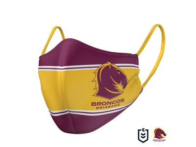 The Mask Life Brisbane Broncos Face Mask
