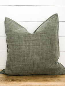 Cushion Cover - Tussock 100% Belgian Linen with Flange