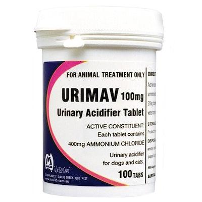 Mavlab Urimav Tabs Animal Urinary Acidifier Tablets 100mg 100 Pack