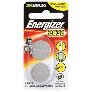 Energizer Batteries Coin Cell Remote Control Replacement Battery Twin Pack 3v Lithium Batteries CR2032