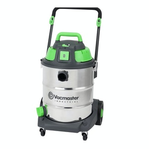 Vacmaster Wet / Dry Industrial Vacuum 50 litre 1600w Stainless Drum Sync Function