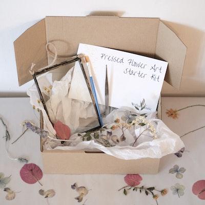 Florapeutic Pressed Flower Art Starter Kit + Bonus Gift DIY Pressed Flower Christmas Bauble