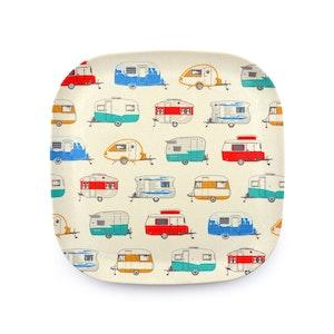 "Van Go Collections ""Seasonal Caravans' 22cm Bamboo Plate"