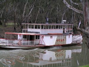 The 108 year old (2005) Pyap paddle steamer