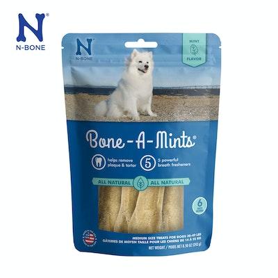 N-Bone Bone-A-Mints Dental Bones Mint Flavor Medium 6pks