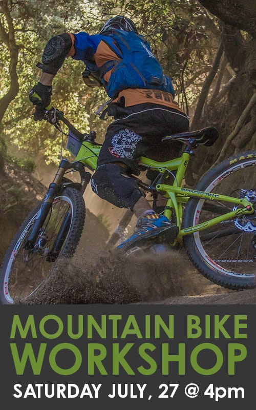 Mountain Bike Workshop July 27 @ 4pm