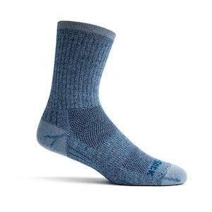 Wrightsock Blister-free Escape - Crew Socks - Blue Twist