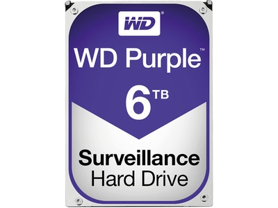 Western Digital (WD) 6TB Purple series hard drive (HDD)