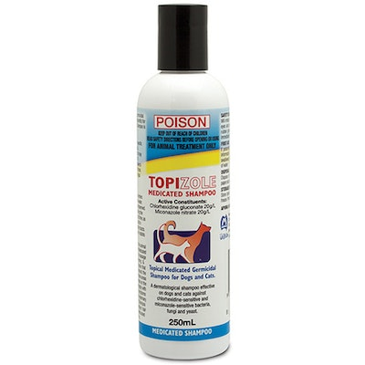 Fidos Topizole Medicated Antibacterial Shampoo For Dogs & Cats - 4 Sizes