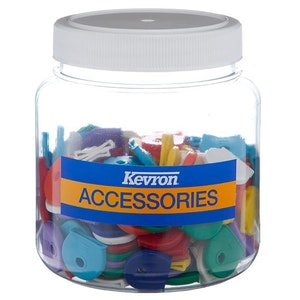 Kevron Key Head Caps Assorted Colours Tub of 200