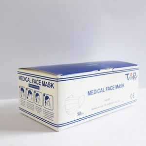TGA Medical Face Masks - Universal Fit 3Ply Disposable (50 Pack)