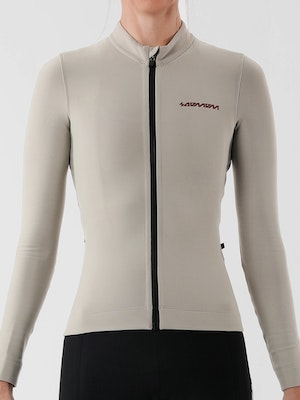 Soomom Women's Pro Classic LS Thermal Jersey - Taupe