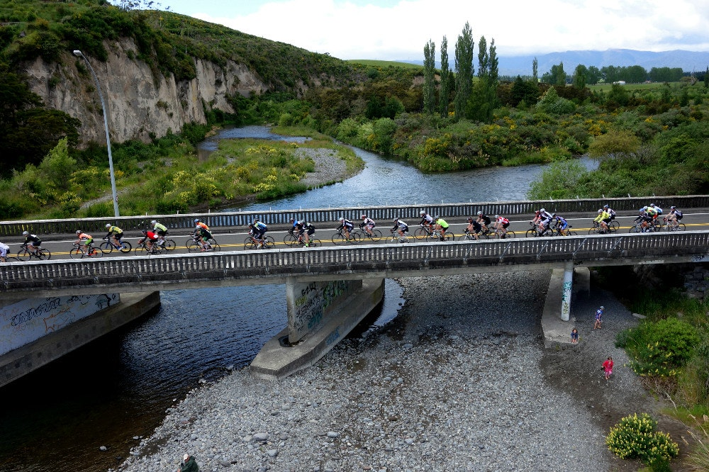 crossing bridge peloton