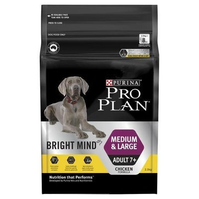 Pro Plan Bright Minds 7+ Medium & Large Breed 2.5kg