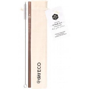 Ever Eco Rose Gold On-the-go Stainless Steel Straw Kit