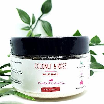 PureSoul Collection Coconut & Rose Milk Bath