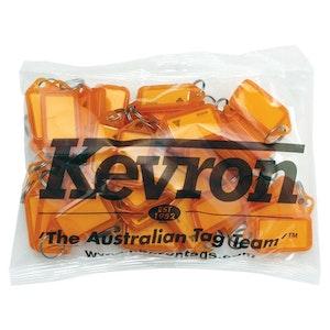 Kevron ID5 Easy Opening Plastic Key Tags – 50 Pack – Orange
