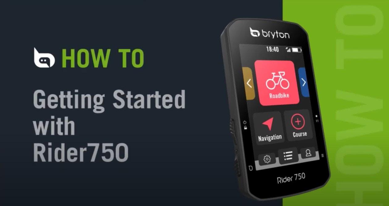 Bryton - Rider 750 | Getting Started