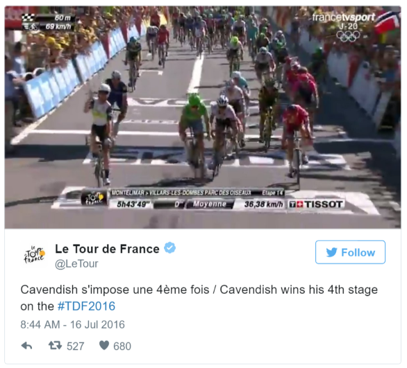 tour highlights cavendish twitter