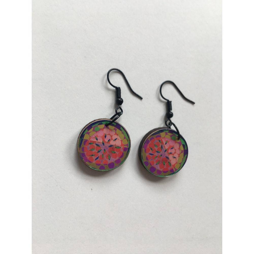 One of a Kind Club Colourful Fruit Jemma Skellett Print Earrings