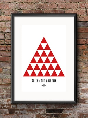 Band of Climbers Queen of the Mountain Geometric Print