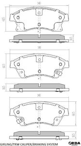 RDA EXTREME H/DUTY FRONT BRAKE PADS for HOLDEN CRUZE 8/2009-2/2011 RDX2068