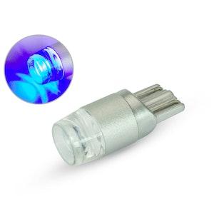 Single T10 W5W 12V LED Projector Bulb - Blue