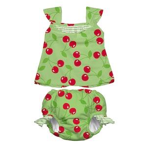 i play. Mod Ultimate Swim Diaper 2pc Tankini Set - Lime Cherry