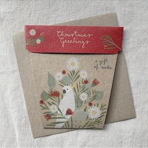 Australian Christmas Gift of Seeds Card