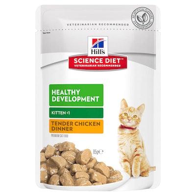Hills Kitten Healthy Development Wet Cat Food Tender Chicken Dinner 12 x 85g