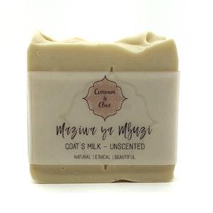 Handmade Natural Unscented Soap Bar - Maziwa ya Mbuzi (Goat's Milk)