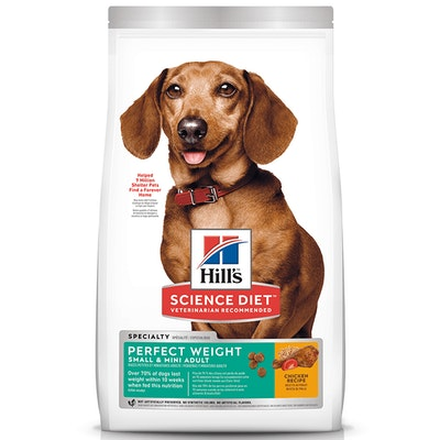 Hills Adult Small & Mini Perfect Weight Dry Dog Food Chicken - 2 Sizes