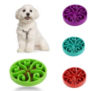 DoggyTopia Slow Feeder Swirl Dog Bowl