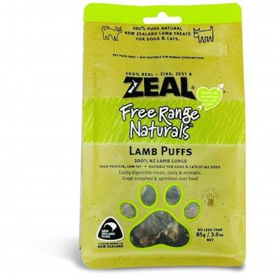 ZEAL FRN Zeal Free Range Naturals Lamb Puffs Dog Treats 85G