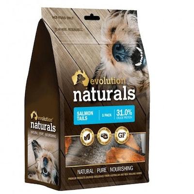 EVOLUTION NATURALS Salmon Tail Dog Treats 5 Pack