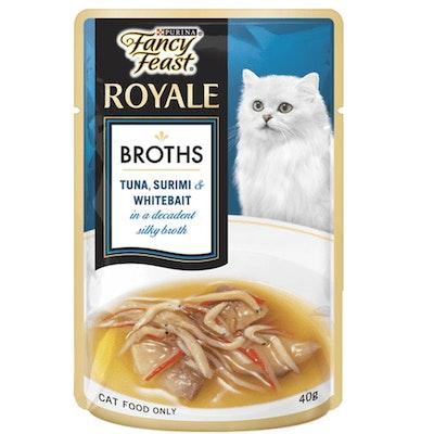 Fancy Feast Cat Food Tuna Surimi Whitebait Broth 12 x 40g