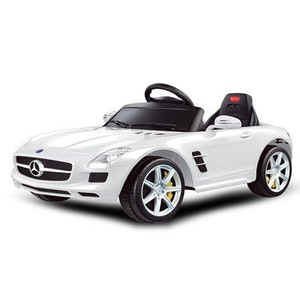 Rastar White Licenised Mercedes Benz SLS Ride on Car