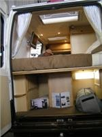 rearview plenty of space under bed Ducato