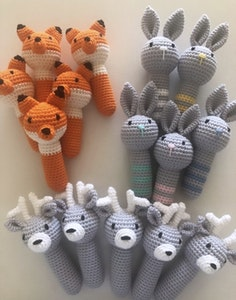 Hand Crocheted Fox Rattle