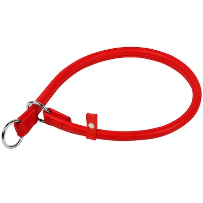 WauDog by the Collar Company Waudog Galmour Round Leather Slip Collar Size: Length 60cm, diameter 13mm
